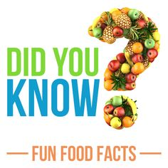Things you didn't know about food