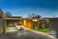 This mid century beauty has been sympathetically made over in Balwyn North - goes to show how these old classic builds can be relevant and valued in todays built landscapes! Real Estate Photography, Mid Century House, Facades, City, Building, Classic, Creative, Outdoor Decor, Modern