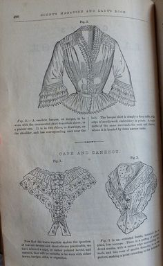 Godey's Lady's Book, June 1853 4 by Fashionable Frolick, Cambric Basque or sacque; cape and canezou