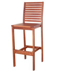Contemporary Outdoor Teak Wood Bar Chair Weather Resistant Patio Furniture New