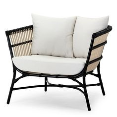 Yoko Outdoor Chair Black & Seashell