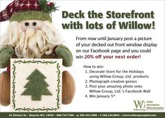 Willow Group is having a Photo Contest on Facebook where you could win 20% off!