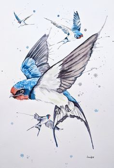 Acrylic and watercolour portrait artist. Paintings of loved ones, cherished family pets and sports personalities. Bespoke commissions considered too. Watercolor Bird, Watercolor Animals, Watercolor Illustration, Watercolor Portraits, Watercolor Paintings, Original Paintings, Watercolour Tattoos, Watercolors, Traditional Photographs