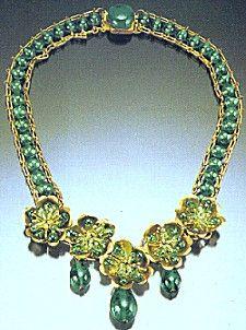 Louis Rousselet glass bead necklace