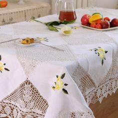 Hetaiyiyuan handmade crochet Continental toalhas de mesa toalha de mesa toalha de mesa toalha de mesa de jantar partido