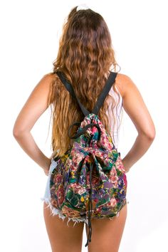 Vintage 90's School's Out Floral Backpack