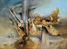 An Invisible Place Made Manifest, 2001 Henry Thomas, Australian Painters, Surrealism, Distortion, Landscape, Knights, Artwork, Painting, Artists