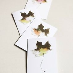 Watercoloured Maple Cards