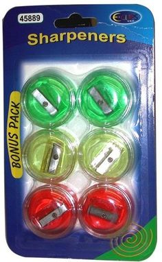 Pencil Sharpeners - 6 pack Case Pack 48