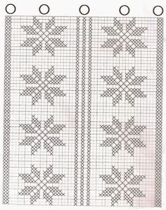 Crafts Crochet Vanda: CURTAINS KITCHEN WITH GRAPHICS