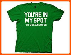 Ripple Junction Big Bang Theory You're In My Spot Dr Sheldon Cooper Adult T-Shirt Small Kelly Green - Cool and funny shirts (*Amazon Partner-Link)
