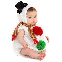 Infant/Toddler Christmas Baby Snowman Costume