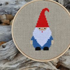 Lovely Gnome Cross Stitch Kit (Etsy, Sewingseed)