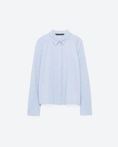Image 8 of JACQUARD OXFORD SHIRT from Zara