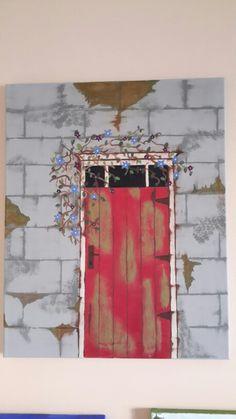 Red door Red, Painting, Painting Art, Paintings, Drawings