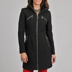 @Overstock - This long black hooded jacket from Miss Sixty features a full zip-up front topped with a knit-trimmed stand collar. A flattering, defined waist, back zip, shoulder epaulettes, and multiple pockets give this lined jacket an updated, modern look.http://www.overstock.com/Clothing-Shoes/Miss-Sixty-Womens-Black-Long-Jacket/6780210/product.html?CID=214117 $94.99