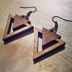 Wooden Earrings, Wooden Jewelry, Resin Jewelry, Leather Jewelry, Handmade Jewelry, Laser Cutter Ideas, Laser Cutter Projects, 3d Laser Printer, Diy 2019