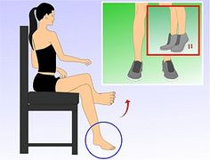 Ankle strengthening exercises. I definitely need these after breaking my ankle twice.