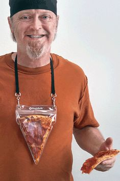 A Portable Pizza Necklace Will Never, Ever Let You Down....I want this....no, I NEED this. LOL!!!! ☺