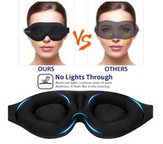 Eye Mask for Men Women, Contoured Cup Sleeping Mask & Blindfold with Ear Plug Travel Pouch, Concave Molded Night Sleep Mask, Block Out Light, Soft Comfort Eye Shade Cover for Yoga Me Sleeping Issues, Pitch Dark, Soft Eyes, Large Eyes, Ear Plugs, Concave, Sleep Mask, Yoga Meditation