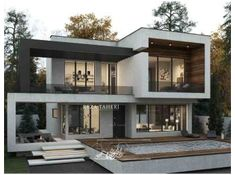 3 Storey House Design, Two Story House Design, Modern Small House Design, Modern Villa Design, Bungalow House Design, Minimalist House Design, Modern Bungalow Exterior, Modern Exterior House Designs, Modern Architecture House