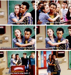 "#GirlMeetsWorld ""Girl Meets the Real World"" (this was cute)"