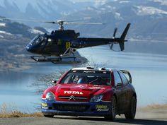 Citroen Xsara WRC of Sebastien Loeb at 2003 Rally Monte Carlo