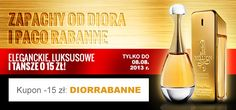 Aż 15zł taniej perfumy marki Dior i Paco Rabanne z podstrony: http://www.kokai.pl/diorirabanne   Tylko w Perfumerii Kokai.pl