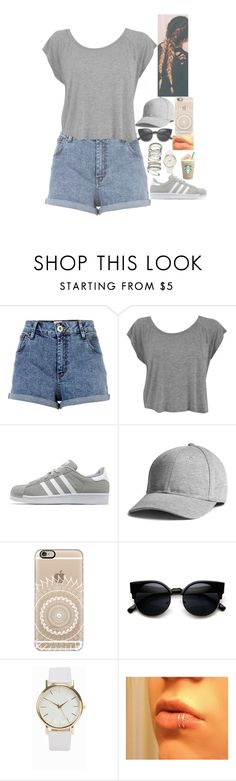 """""""Untitled #600"""" by lifeasgege ❤ liked on Polyvore featuring River Island, adidas Originals, Casetify, ZeroUV, NLY Accessories and H&M"""