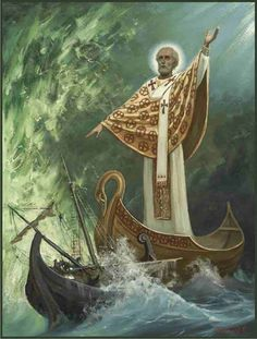 May St. Nicholas the Wonderworker, the Patron Saint of the seamen and the Navy pray for us all!