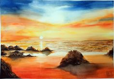 """"""" il grande caldo """" acquerello di Lorenza Pasquali ,35x51  www.lorenzapasqualii.it"""