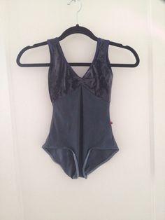 Anna Style Yumiko Leotard In Dark Blue with a velvet top