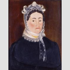 """Nancy G. Jackson Attributed to Sheldon Peck (1797–1868) Location: Vermont, United States Date: c. 1820 Materials: Oil on wood panel Dimensions: 21 1/2 × 16 1/4"""""""