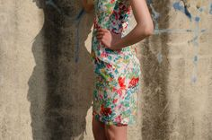 Beautiful dress with lace with floral prints from Be Chic Fashion picture #2