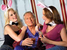 Hugh Hefner and Bunnies - Madame Tussauds