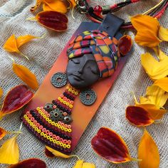 African jewelry women,hippie necklace,Polymerclay pendant,boho style jewelry,tribal necklace,unique necklace,boho jewelry,artisan jewelry