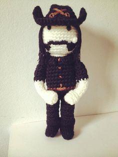 Lemmy de Motorhead amigurumi www.etsy.com/es/shop/amigurockers