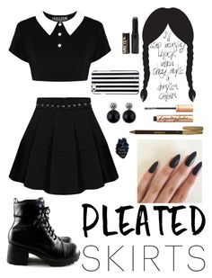 """""""Modern Wednesday Addams #2"""" by xxmonnyxx ❤ liked on Polyvore featuring Sisley, MICHAEL Michael Kors and modern                                                                                                                                                                                 Mais"""