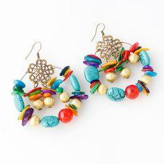 93d63119e Bohemian Colorful Dangle Earrings Boho Accessories, Boho Jewelry, Ethnic  Jewelry, Women Jewelry,