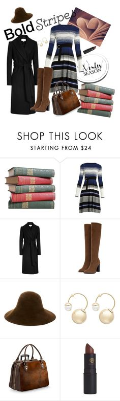 """""""Bold Stripes"""" by cordelia-fortuna ❤ liked on Polyvore featuring Sportmax, Zara, Patricia Underwood, Witchery, Aspinal of London and Lipstick Queen"""