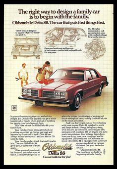 1978 Oldsmobile Delta 88 Automobile Car Ad Auto Photo Illustration Advertisement