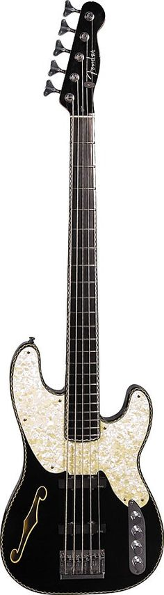 Ricky Phillips' Fender Custom Shop five-string - such a pretty but retro bass