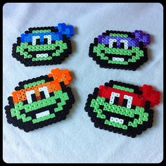 Teenage Mutant Ninja Turtles Perler Bead Sprites