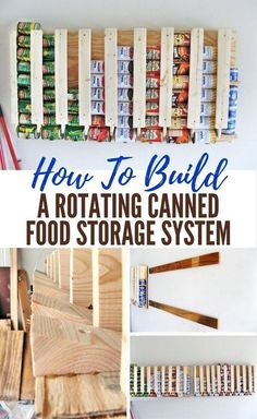 First in, First Out, is The Concept Behind This Rotating Canned Food Storage System