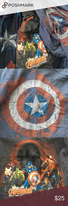 Marvel Shirt Bundle Bundle of 3 Marvels Avengers and Captain America Men's T-shirts. Great used condition. Very soft and comfortable. All are size XL. Marvel Shirts Tees - Short Sleeve
