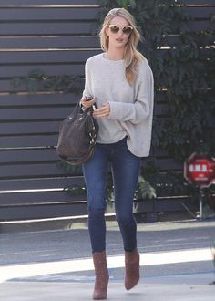 Rosie Huntington-Whiteley loves Zadig and our Sweater Markus Pointelle C!