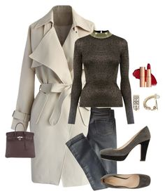 """""""Casual day at the Office."""" by kotnourka ❤ liked on Polyvore featuring Chicwish, Valentino, Oasis, Prada, Hermès and Dana Buchman"""