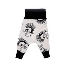 Punk Flexi Harem pants for babies and toddlers. Two sizes fit for longer. Sign up on the website for exclusive specials.