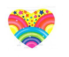 Lisa Frank Rainbow Stars Sticker 3 Inch 80's Vintage 1984