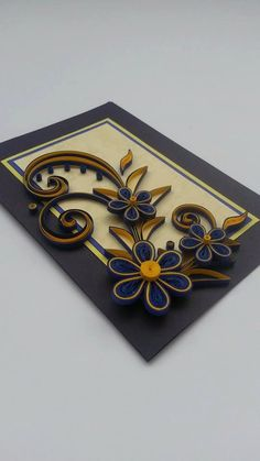 Quilled greeting card  Handmade card  Quilling design by Gericards